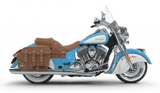2018 Indian Chief Vintage Sky Blue over Pearl White Right
