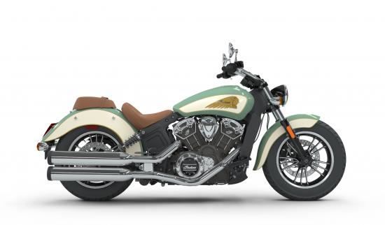2018 Indian Scout Willow Green over Ivory Cream Right